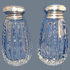 cut crystal salt pepper shakers