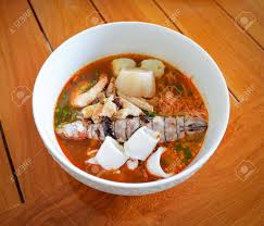 Hot And Spicy Thai Food Noodle Seafood ...