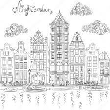 Kleurplaten Kleurplaat Amsterdamse Grachten