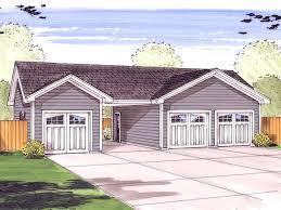 car garage plan with center carport