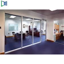 china modern glass wall divider office