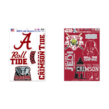 Alabama Crimson Tide Official Ncaa Decal 11x17 Sticker Cling And Star Wars Darth Vader Car Window Cling Decal Bundle 2 Items Walmart Com Walmart Com