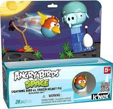 KNEX Angry Birds Lightning Bird vs Frozen Helmut Pig Set 72434 - ToyWiz