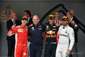 Podium: second place Sebastian Vettel, Ferrari, Adrian Newey, Red Bull  Racing, Race winner Daniel Ricciardo, Red … | Red bull racing, Daniel  ricciardo, Adrian newey