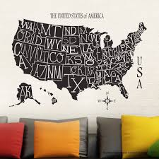 New Arrival Free Shipping Wallpaper Usa Map Sticker Decal Muurstickers Posters Vinyl Wall Decals Decor Mural Usa Map Sticker Map Sticker Vinyl Wall Decalsdecoration Murale Aliexpress