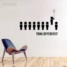 Vinyl Wall Decal Stickers Think Different Office Meeting Room Space Decor Interior Home Decoration Art Murals Jg4143 Wall Stickers Aliexpress