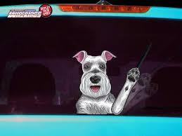 Missy The Schnauzer Waving Dog Decal Wipertag For Rear Windshield Wiper Wipertags