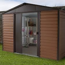 woodview apex metal garden shed
