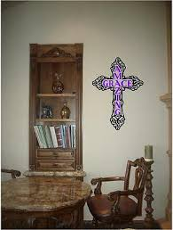 Amazing Grace Christian Cross Wall Decal Sticker Art For Home Or Church Ebay