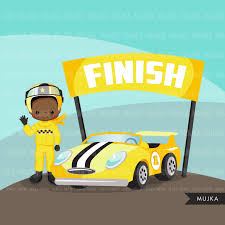 Car Racing Clipart Yellow Car Racer Boy Formula 1 Con Imagenes