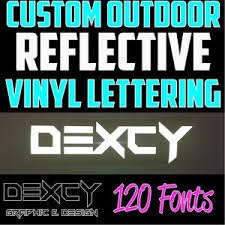 1 White Custom Outdoor Reflective Vinyl Lettering Decal Sticker Car Window Sign Ebay