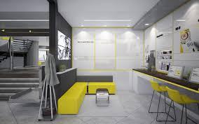 تحميل خلفيات مكتب 4k الداخلية الأنيقة مكتب الداخلية الأصفر