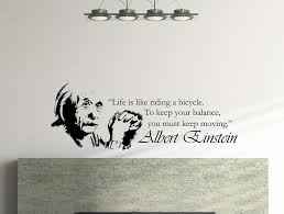 Albert Einstein Inspirational Typography Quote Wall Decal Life Is Lik Wallvibes