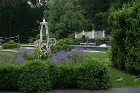 Marvelous Garden Obelisk In Landscape Traditional With Lattice Fencing Next To Boxwood Landscaping Alongside Climbing Vines