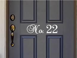 Custom House Number Vinyl Door Decal Front Door Decals Home Etsy Vinyl Door Decal Decal Wall Art Front Door Decal