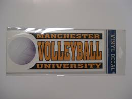 Volleyball Car Decal Manchester University Campus Store