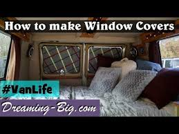 Vanlife How To Make Custom Window Covers Youtube