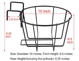 Shiyuan Fow Bl01 Esylife Over The Rail Metal Fence Planters Assemble Flower Pot Hangers Set Of 3