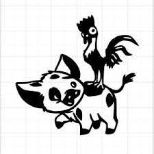 Moana Pua Pig Hei Hei Chicken Custom Auto Vinyl Decal Sticker Ebay