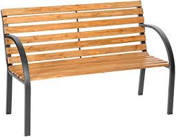 3 seater wooden slat garden bench