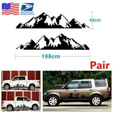 Car Truck Decals Stickers 2x Off Road Snow Mountain Vinyl Stickers Decal Black Universal Waterproof Black Car Truck Graphics Decals Lamar Rs