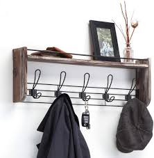 Amazon Com J Jackcube Design Rustic Wall Mounted Coat Rack 5 Hooks Wood Floating Shelf Entryway Hanger For Hat Small Bag Key Kids Backpack Leash Decorative Organizer Mk508a Home Improvement