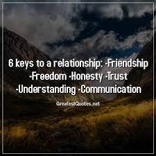 keys to a relationship friendship dom honesty trust