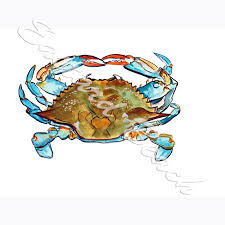 Blue Crab Overhead High Quality Printed Vinyl Decal Wall Window Car Sticker Ebay