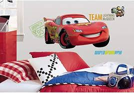 Home Garden Bedroom Playroom Dorm Decor Lightning Mcqueen Giant Wall Decals Giant Cars Movie Stickers Disney Decor New Dr Hetsroni Com