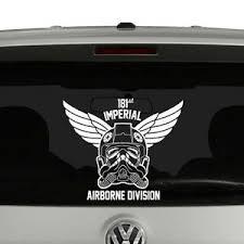 Star Wars Inspired Tie Fighter Airborne Vinyl Decal Sticker Car Window Ebay