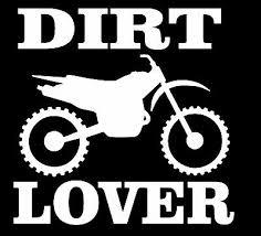 Dirt Lover Dirt Bike Super Cross Vinyl Decal Sticker Car Truck Window Ebay