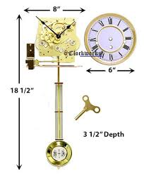 spring driven wall clock kit needing a