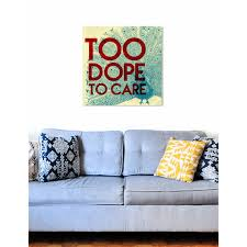 Shop Oliver Gal Too Dope Typography And Quotes Wall Art Canvas Print Red Blue Overstock 10509102