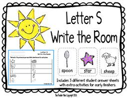 Letter S Write The Room Includes 3 Levels Of Answer Sheets By The Kinder Files