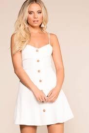 Ada White Button Skater Dress | Maroon long sleeve dress, Dresses ...