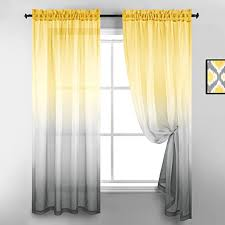 Amazon Com Reversible Sunshine Faux Linen Textured Semi Sheer Curtains For Bedroom Kids Boys Room Baby Girls Nursery Living Room 52 X 84 Inch Length Set Of 2 Window Curtain Panel Pair Bright