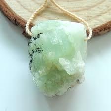 pendant green crystal gemstone pendant