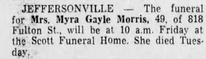 Obituary for Myra Gayle Morris (Aged 49) - Newspapers.com