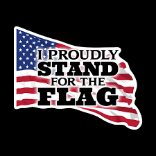 6 I Proudly Stand For The Flag Waving Design Vinyl Decal 2 Pack Wesellspirit Com