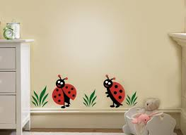 Two Lady Bug Ladybugs Vinyl Decal Children Wall Decals For Nursery And Girls Room On Luulla