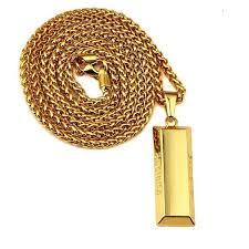 supreme gold bar pendant chain 2016