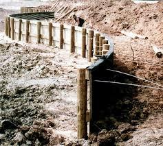 wood bulkhead retaining wall