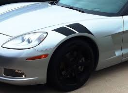 2005 2013 Corvette C6 Stripes Double Bar Hood Decals Vinyl Graphics 3m Auto Motor Stripes Decals Vinyl Graphics And 3m Striping Kits