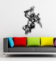 Wall Stickers Vinyl Decal Viking Medieval Warrior With Sword Cool Design Ig534 For Sale Online
