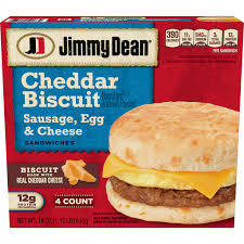 sausage egg cheese cheddar biscuit