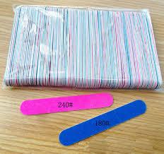 sanding nail file 100pc 180 240 grit