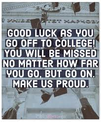 leaving for college congratulation messages and quotes