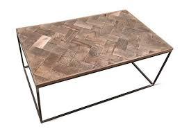industrial coffee table solid oak top