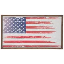 rustic american flag wood wall decor
