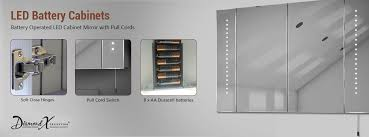 bathroom mirrors with lights battery